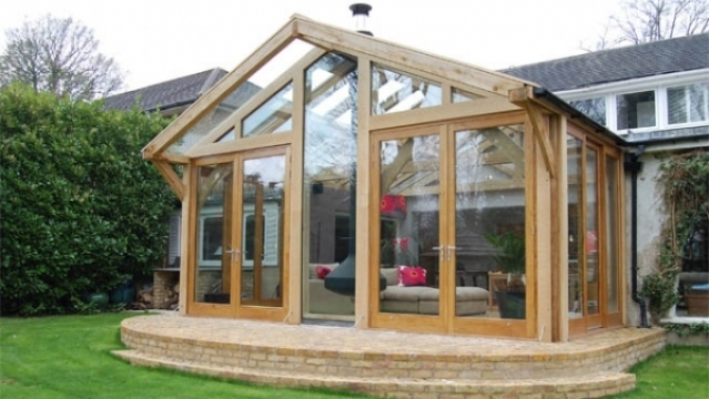 Gallery green oak buildings and frames for Oak framed house designs